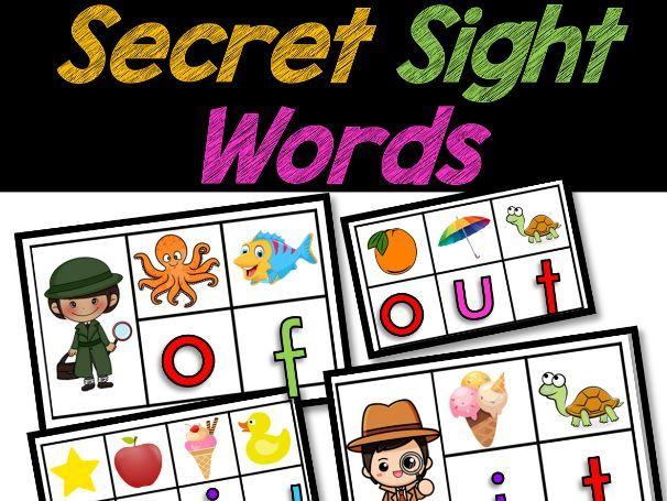 Secret Sight Words Centers   Sight Word Games   Beginning Sounds Practice