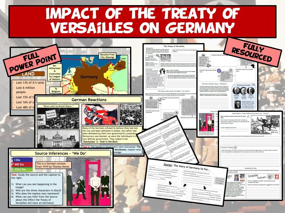 Weimar & Nazi Germany L3 - Impact of  the Treaty of Versailles