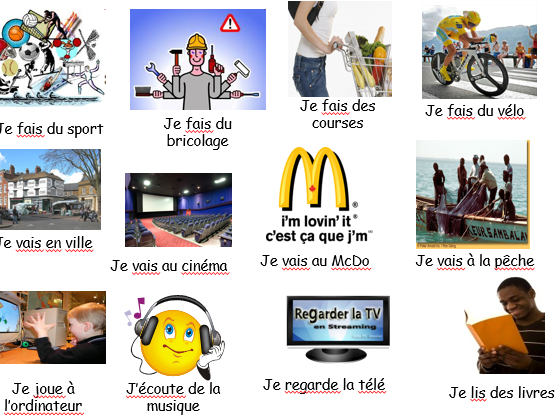 Les passe-temps - French - Year 8