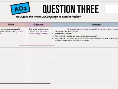 AQA Language Paper 2 Section A Q1,Q2,Q3