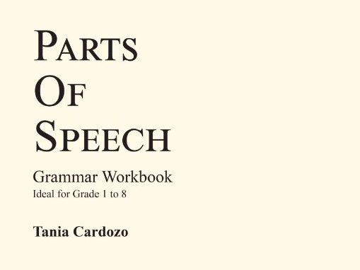 Parts of Speech Workbook from BeeOne Books