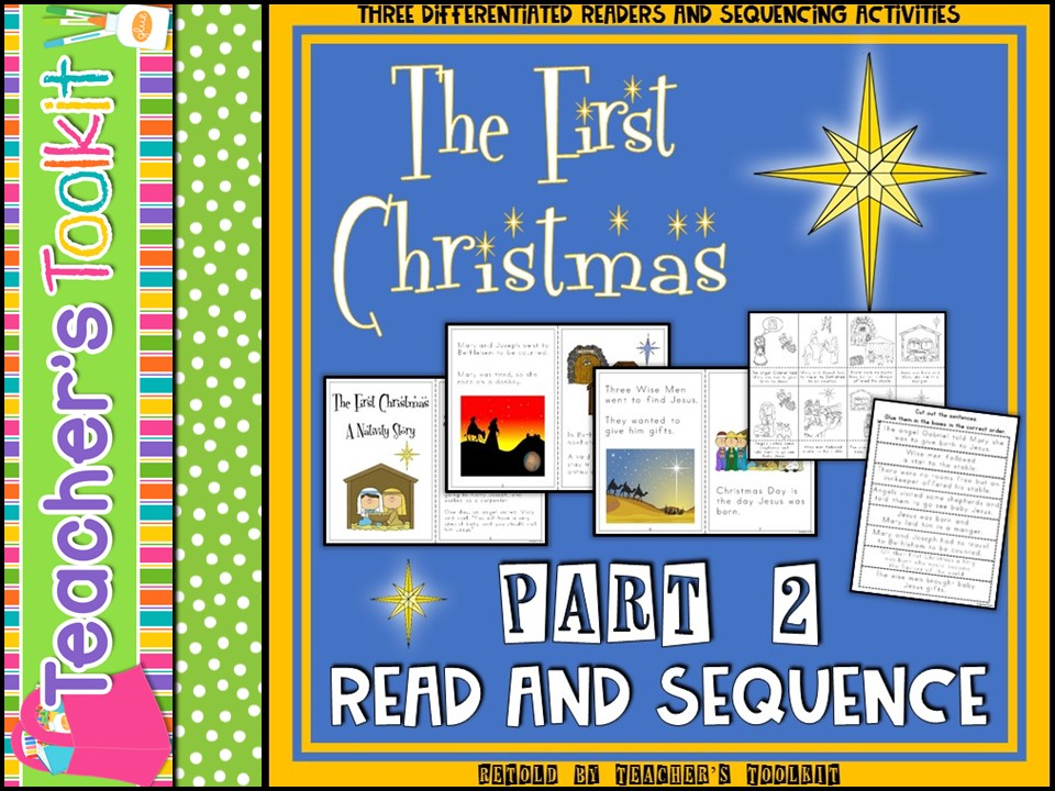 Christmas: The First Christmas Story Retold Part 2 Read and Sequence