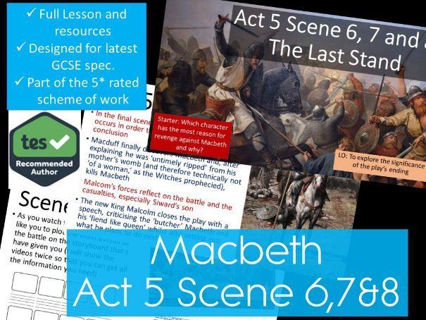 Act 5 Scene 6 7 8 And 9 Macbeth GCSE English Literature 9 1