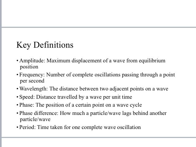 A level physics summary ppt: waves