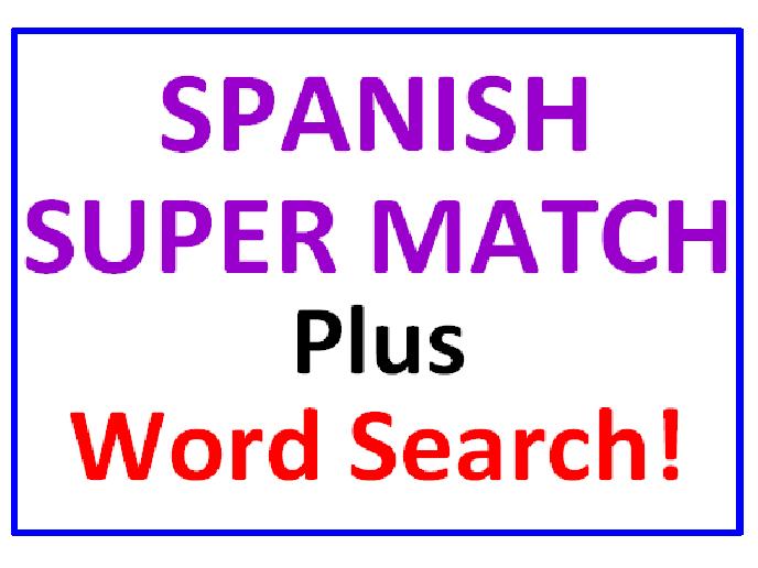 Spanish SUPER Match PLUS Spanish Word Search Puzzle
