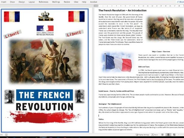 The Causes of the French Revolution - Full Unit of Work