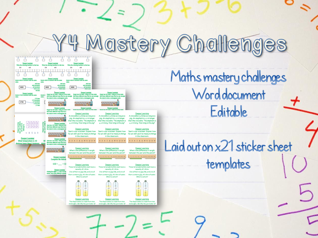 Y4 Maths Mastery Challenges