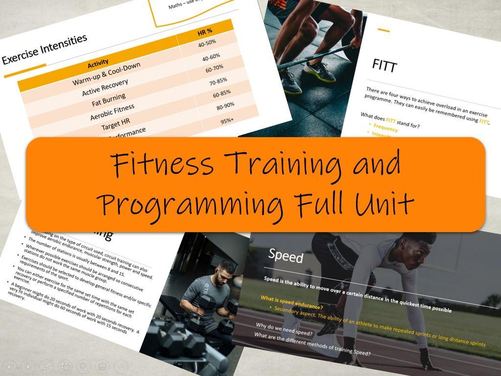 BTEC Sport L3 - Fitness Training and Programming Full Unit