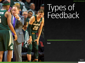 5. Types of Feedback