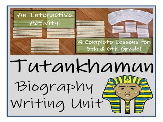 UKS2 History - Tutankhamun Biography Writing Unit