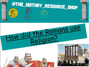 Roman religion/ Temples worksheet
