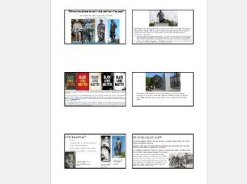 Home learning lesson on Statues - BLM, Rhodes, Heroes, understanding the past
