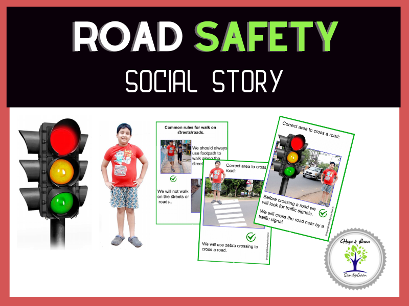 Road Safety Social Story With Real Image for Autism and Special Education