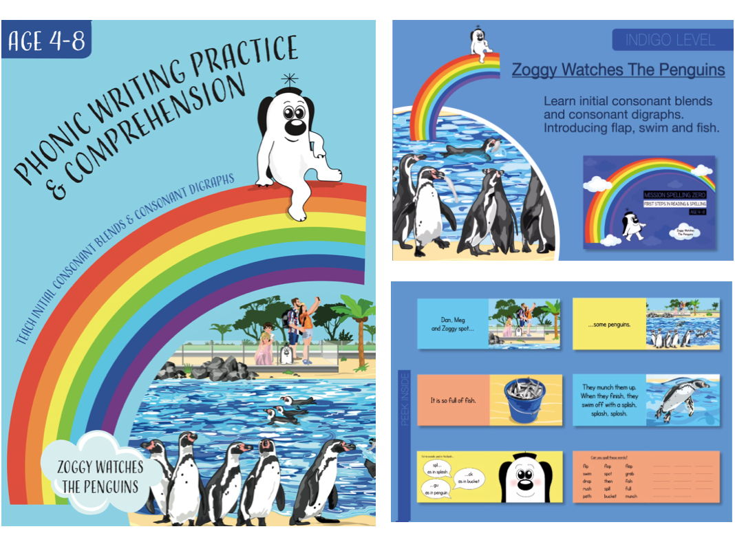 Initial Consonant Blends & Digraphs (Zoggy Watches The Penguins) Pack 1