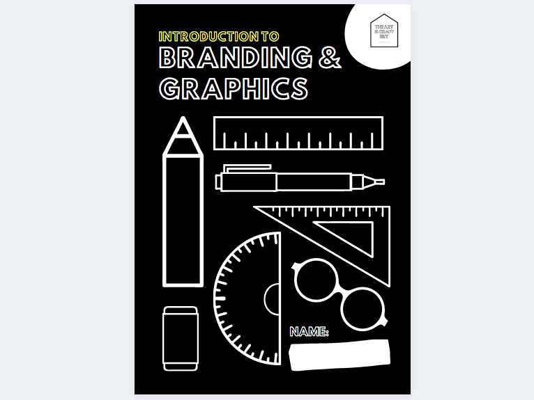 Introduction To Branding & Graphics - 24 Page Digital Booklet - Appropriate For Remote Learning