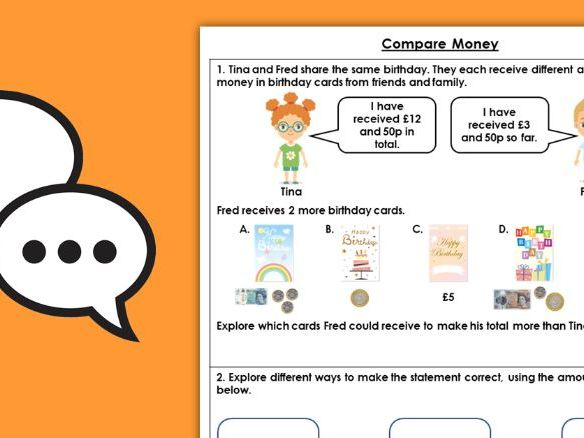 Year 2 Compare Money Autumn Block 3 Maths Discussion Problems