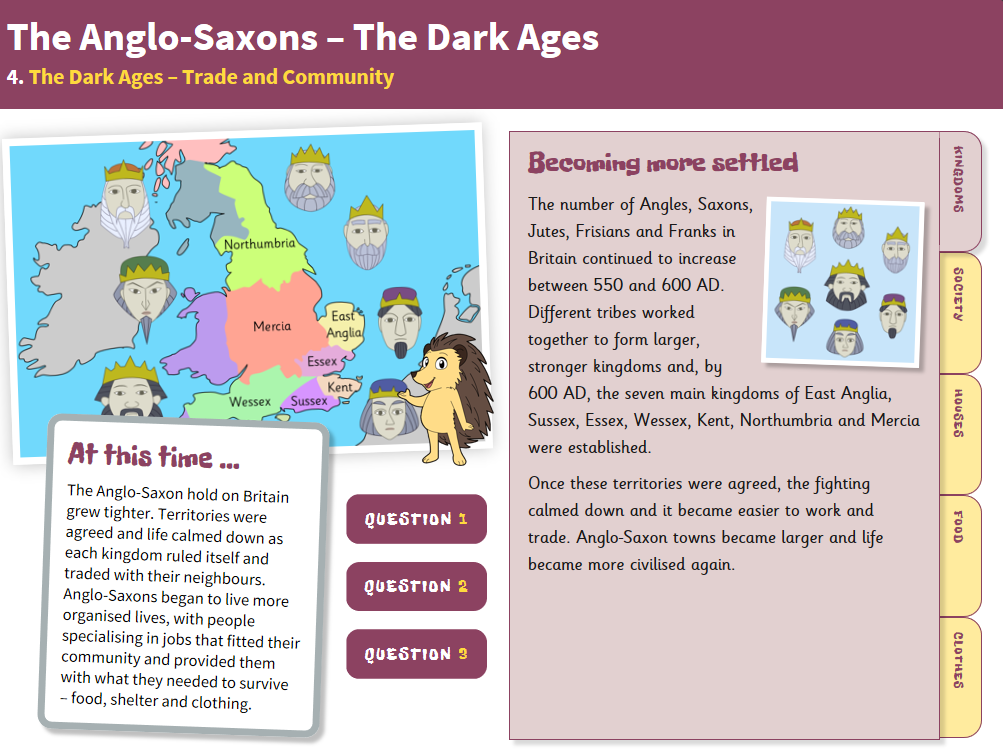 Trade and Community - Interactive Teaching Book - Anglo-Saxon Britain KS2
