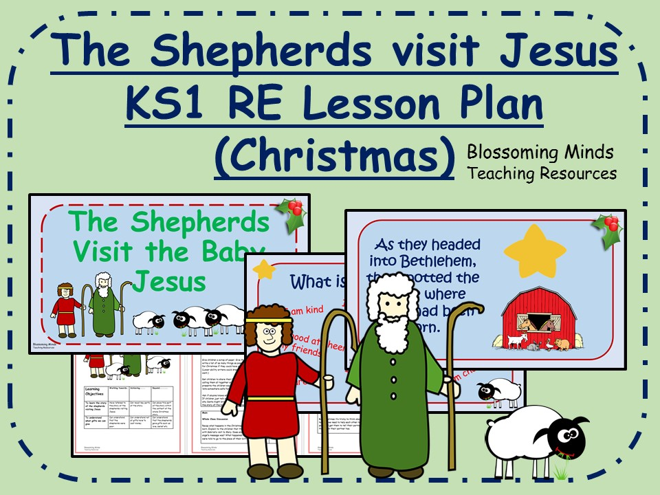 KS1 Christmas RE lesson - The shepherds visit Jesus