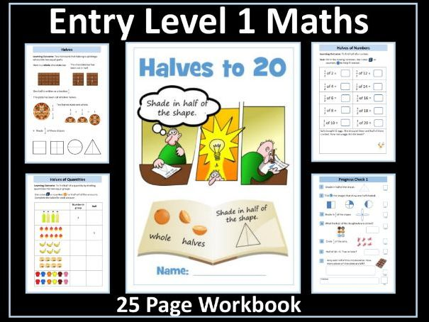 Fractions - Halves: Entry Level Maths