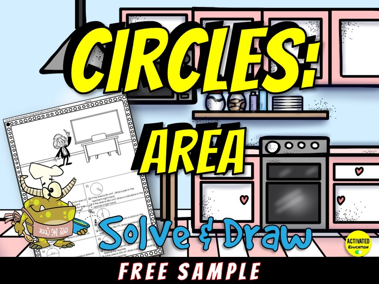 Area of Circles Solve & Draw Activity