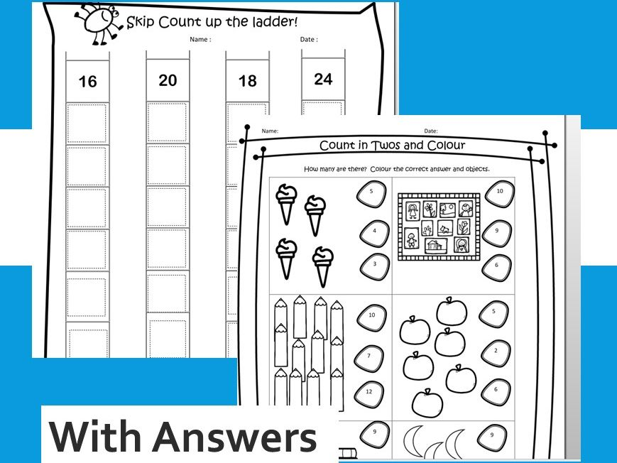 2 Times Table Activity x 2  Printable Instant Worksheets