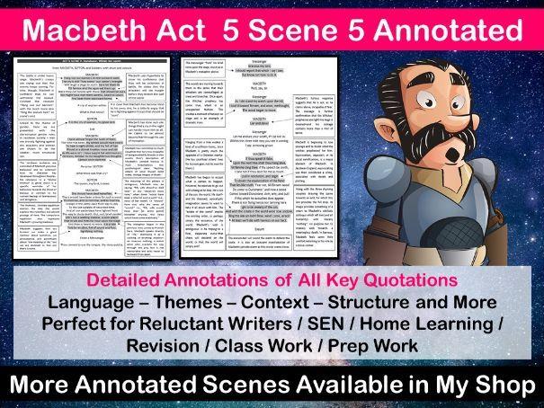 Macbeth Act 5 Scene 5 Annotated