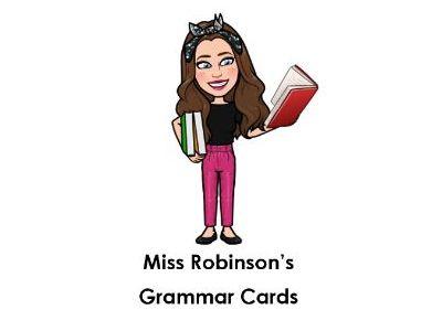 Grammar Cards - Sentence Types, Word Classes, Phonics