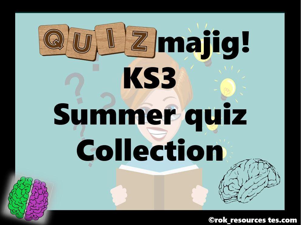 Summer Quiz KS3 pack