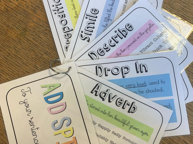 Sentence Opener Prompt Cards
