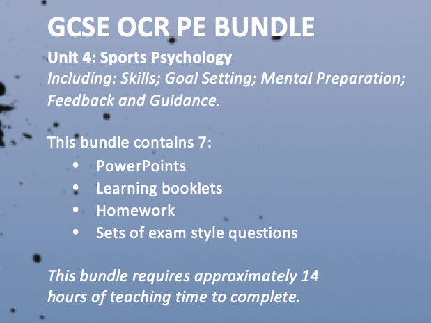 ocr gcse pe coursework specification Ensure students get to grips with the technical terms in the new 9-1 ocr gcse specification with fantastic topic-by-topic activities these cover all theory content from across both papers, providing a sound basis for the whole course.