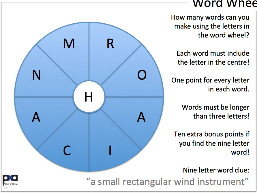 99 9-Letter Word Wheels Tutor Time Activity | Teaching Resources