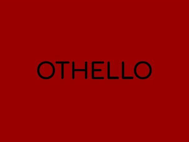 Othello A Level English Literature Presentation