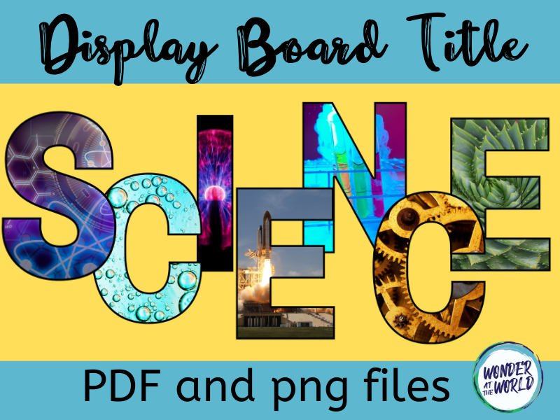 Science display board title