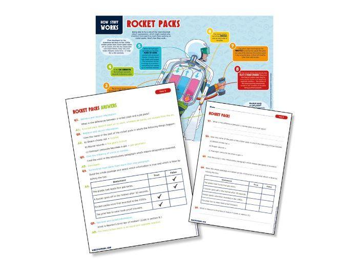 Year 5 science reading: rocket packs