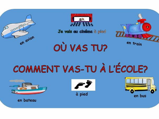 Les transports - A French resource for KS2 and KS3