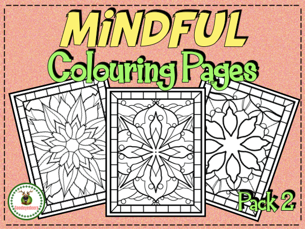 Mindful Colouring Pages - Pack 2