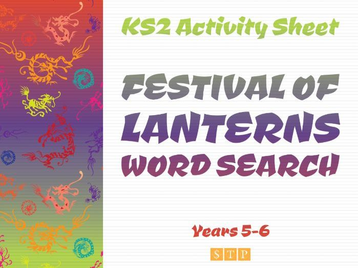 Festival of Lanterns Word Search (plus Solution!) (KS2 Activity Sheet: Years 5 & 6)