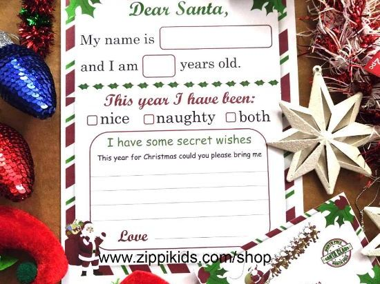 Letter To Santa Template | With Envelope - Printable PDF
