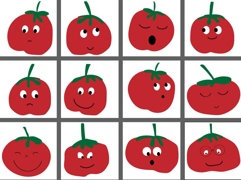 Especial tomatina: Pack de 12 Tomates para decorar la clase