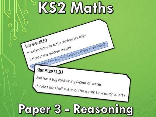 KS2 SATs Maths Paper 3 Reasoning