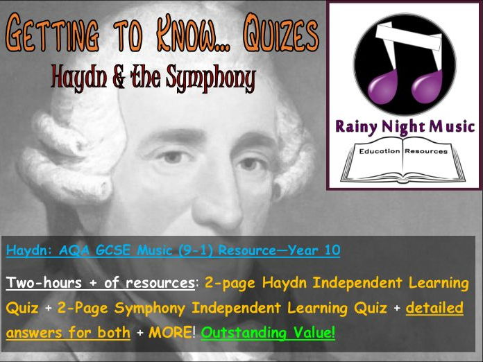 HAYDN & SYMPHONY - BACKGROUND - Independent Learning Quizes - AQA GCSE (9-1) MUSIC: AoS 1 - WCT
