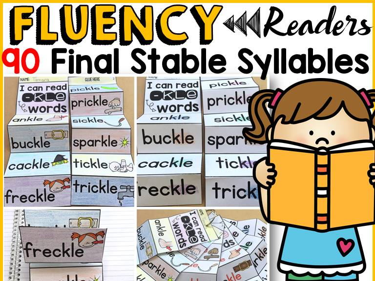 PHONICS: FINAL STABLE SYLLABLES FLUENCY READERS