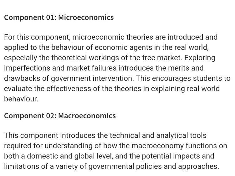 Full OCR Economics notes