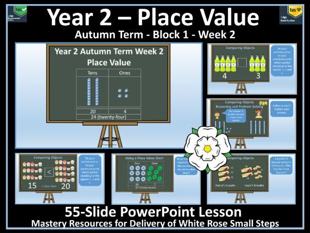 Place Value: Year 2 - Autumn Term - Week 2 - PowerPoint Lesson To Support Delivery White Rose Maths