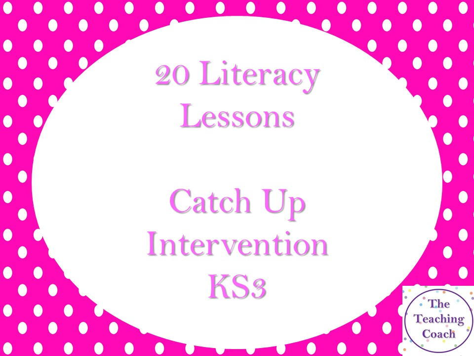 20 Lesson Literacy Intervention Booster Catch Up English Scheme - Reading and Writing Skills - KS3