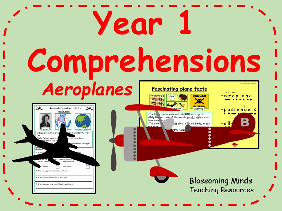 Year 1 non-fiction comprehension - Aeroplanes