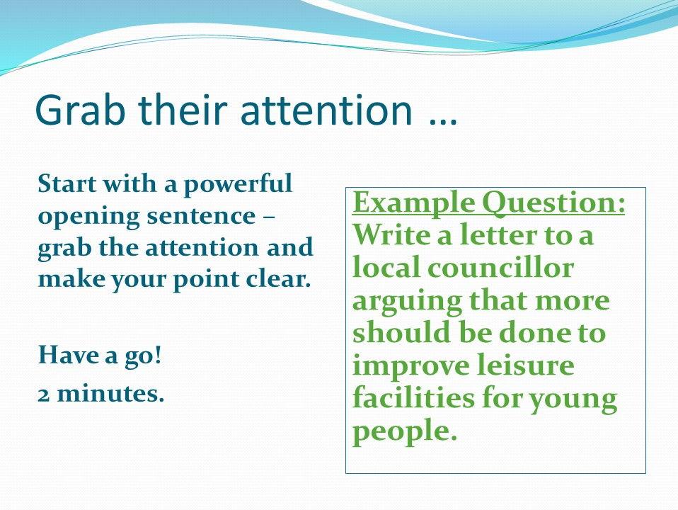 AQA Language Paper 2 Question 5 Revision