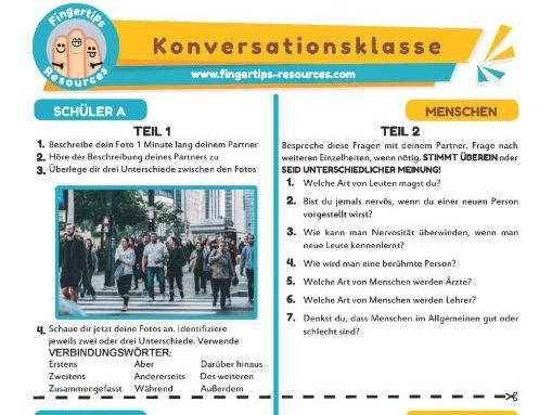 Menschen - German Speaking Activity