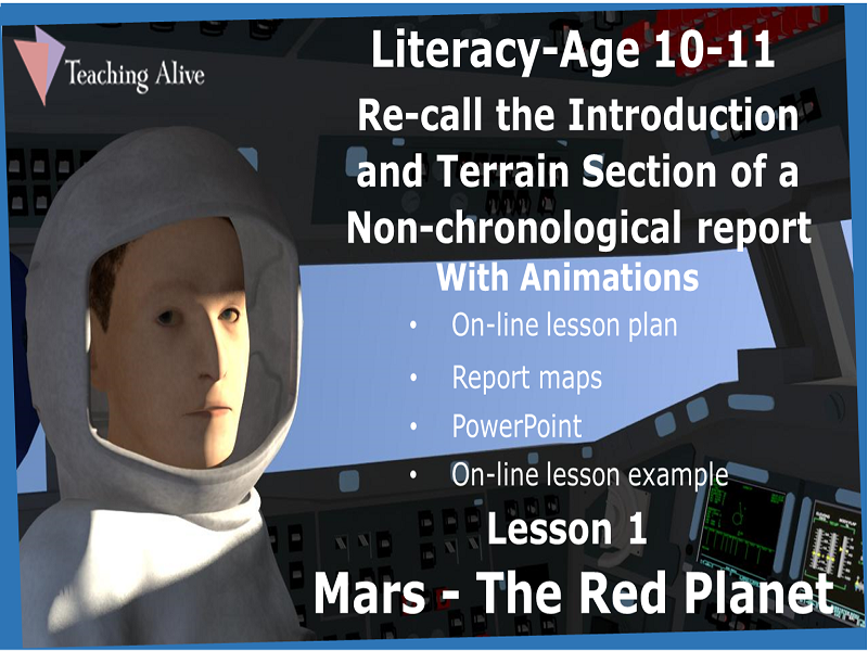 Age 10-11- Re-call Non-chronological Sections Lesson 1