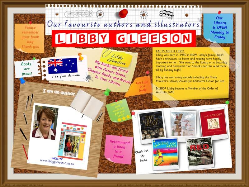 Library Poster  - Libby Gleeson Australian Children's Author